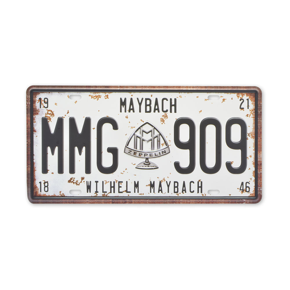 Small Tin Sheet Graphic Print - Maybach Car Logo