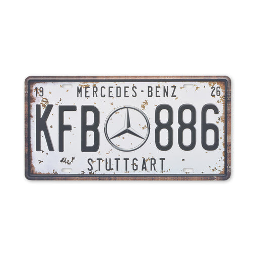 Mercedes-Benz Metal Sign Car Logo Tin Print Small