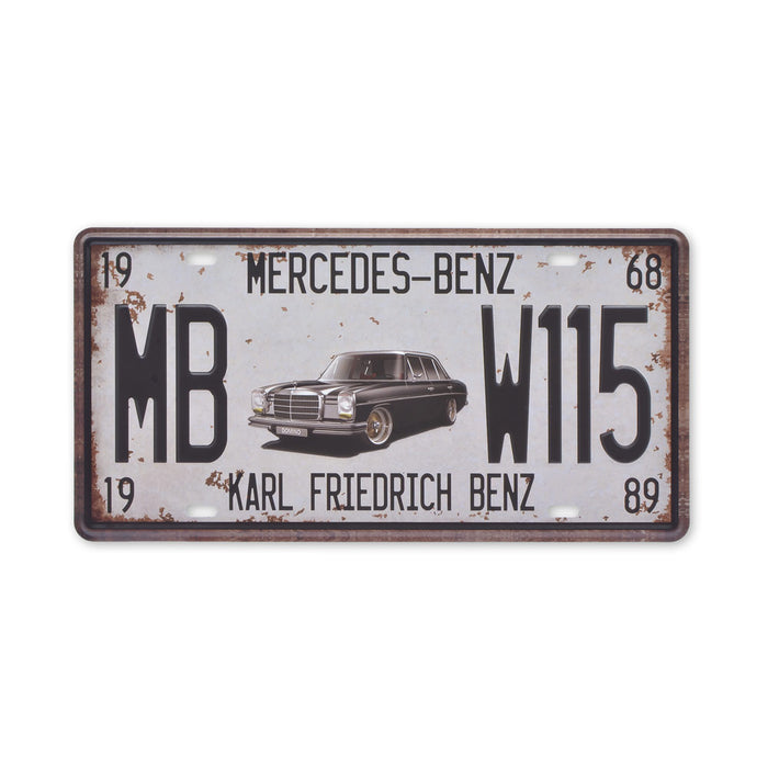 Small Tin Sheet Graphic Print - Mercedes Karl Friedrich Benz