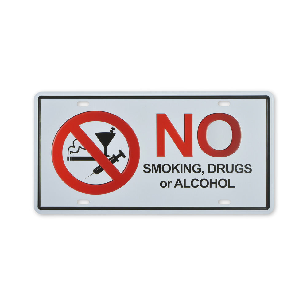Small Tin Sheet Graphic Print - No Smoking, Drugs or Alcohol | That Bloke