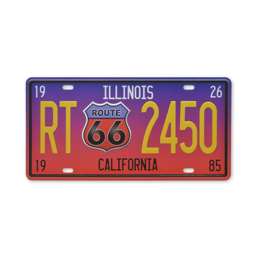 US Route 66 Metal Sign California Tin Small