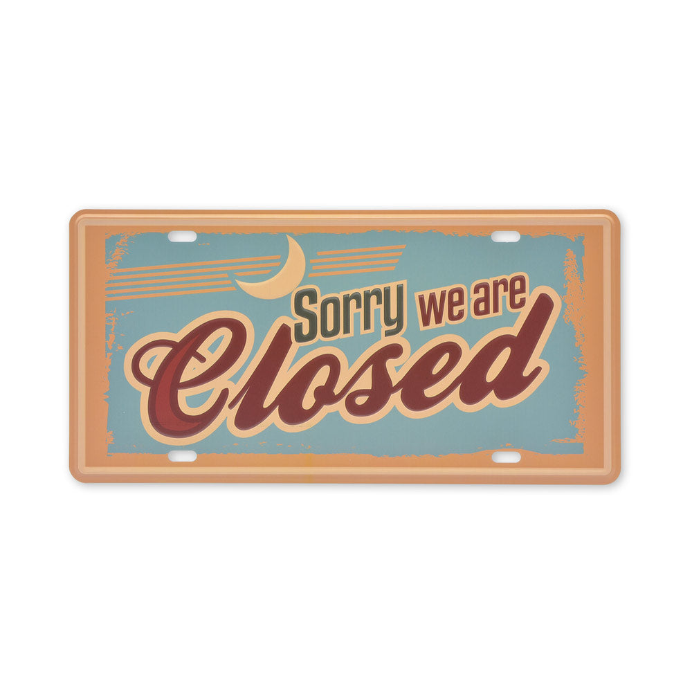 Small Tin Sheet Graphic Print - Sorry We Are Closed