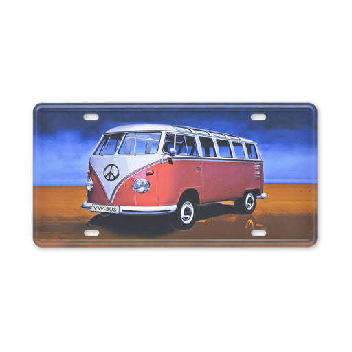 VW Kombi Metal Sign Colourful Tin Sheet Print Small