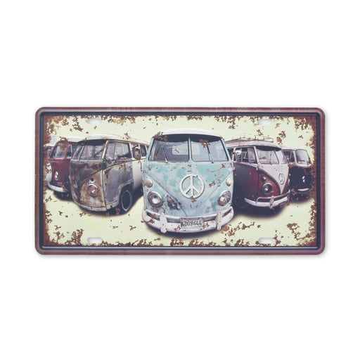 Volkswagen VW Kombi Metal Sign Retro Print Small