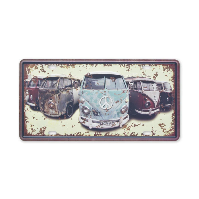 Small Tin Sheet Graphic Print - VW Kombi Bus Retro Display