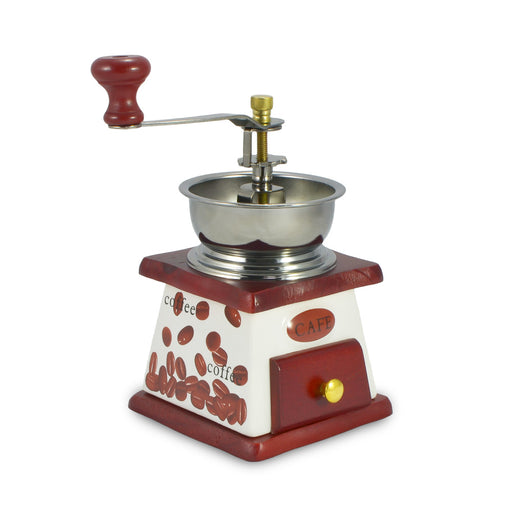 Old Style Manual Coffee Bean Grinder (Red Wood) | That Bloke
