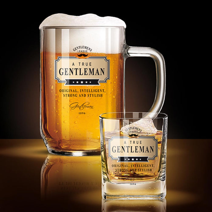 Whiskey and Beer Glass Whiskey Glass Gentleman Club