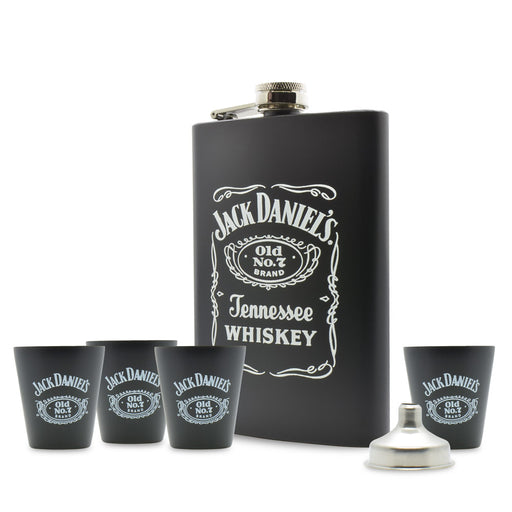 Jack Daniels Whiskey Hip Flask Gift Set | That Bloke