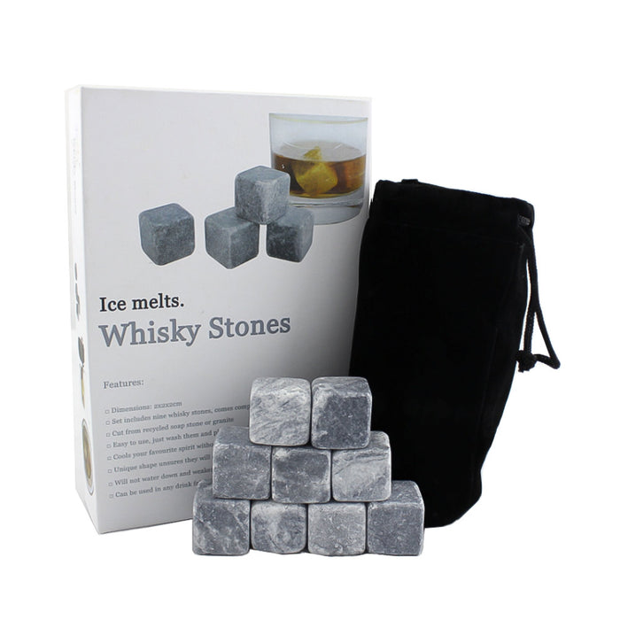Whiskey Cooling Stones - Set of 9