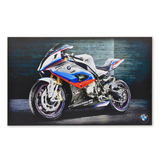 BMW S1000 RR Motorcycle Wood Block Print Superbike Image
