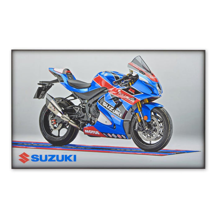 Suzuki GSX-R1000 Motorcycle Superbike Wood Block Print Image