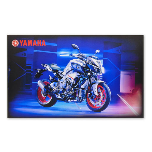 Yamaha MT-10 Motorcycle Wood Block Print large