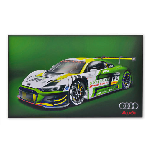 Audi R8 LMS ABT Concept Sports Car Wood Block Print Sign Image
