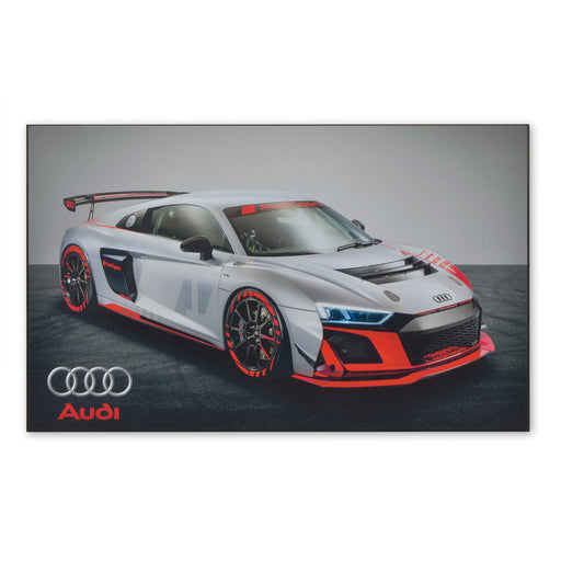 Large Wood Block Print Audi R8 LMS GT4 V10 Sports Car