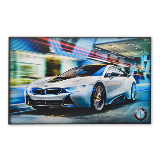 BMW i8 Hybrid Sports Car Wood Block Print Sign Image