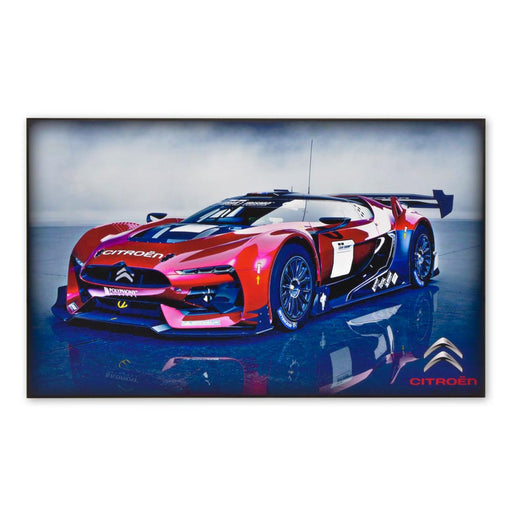 Citroen GT Concept Sports Car Supercar Wood Block Print Sign Image