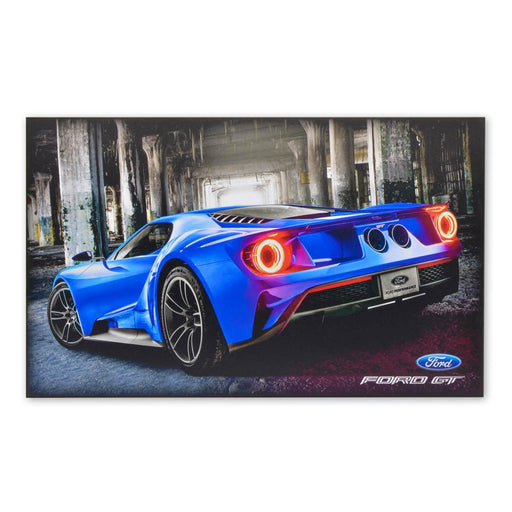 Ford GT Sports Car Wood Block Print Sign Image