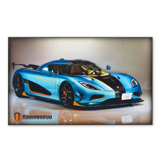 Koenigsegg Agera RSR Sports Car Wood Block Print Sign Image