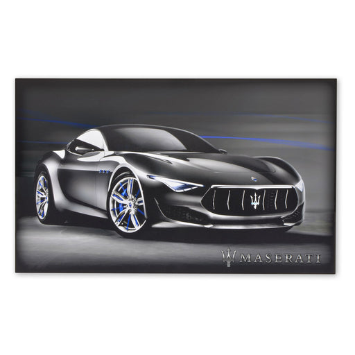 Large Wood Block Print Maserati Alfieri Concept Sports Car