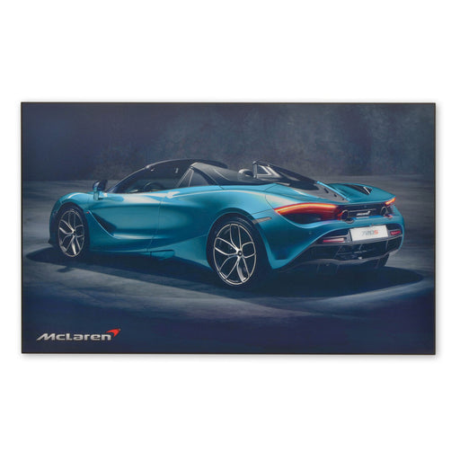 Large Wood Block Print McLaren 720S Spider Sports Car