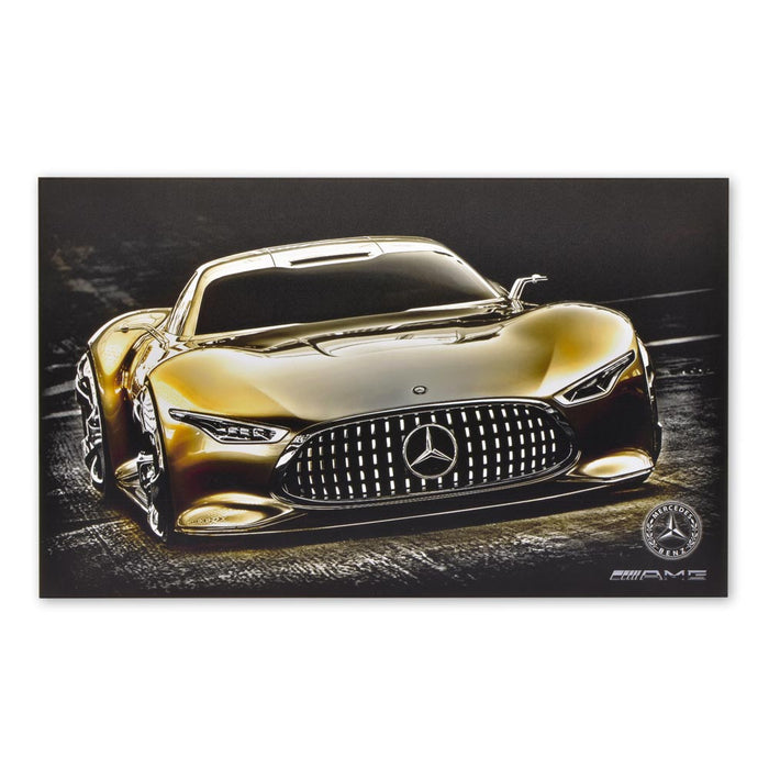 Mercedes-Benz AMG Vision GT Sports Car Wood Block Print Sign Image