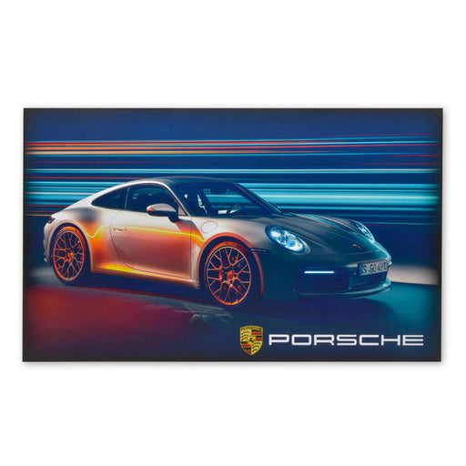 Porsche 911 Carrera S Sports Car Wood Block Print Image
