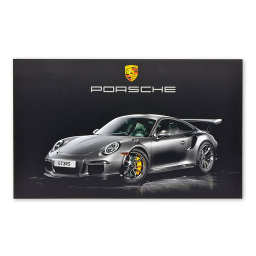 Porsche 911 GT3 RS Sports Car Wood Block Print Sign Image