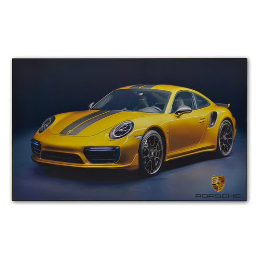 Large Wood Block Print Porsche 911 Turbo S Exclusive Sports Car