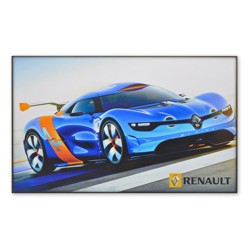 Large Sports Car Wood Block Print Renault Alpine A110-50 Concept