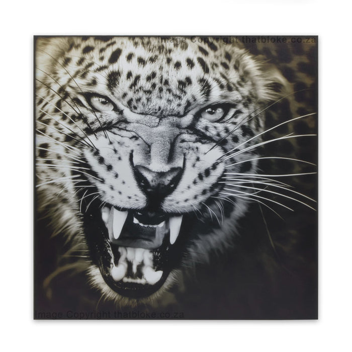 Leopard South Afircan Big Five Game Animal Wood Print