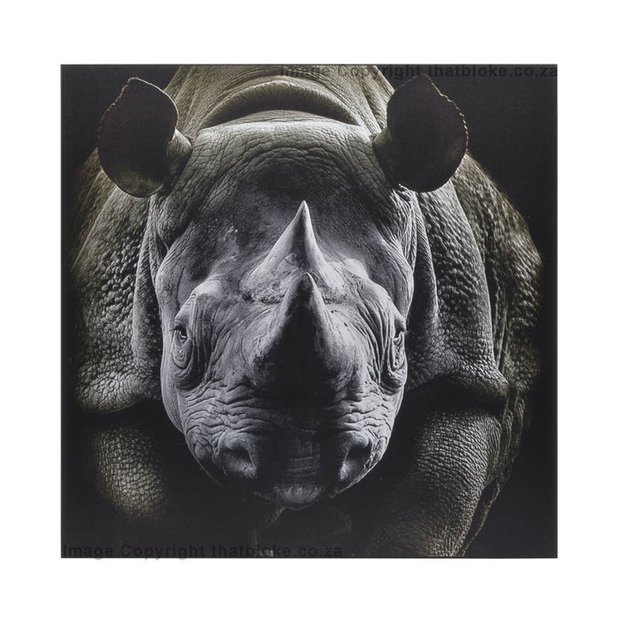 Rhino South African Big Five Game Animal Wood Print