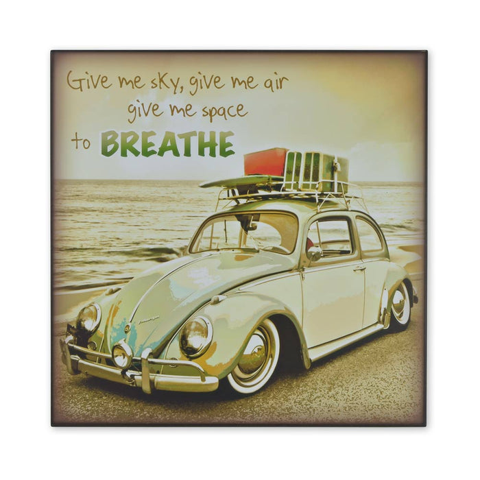 Medium Wood Block Print - VW Beetle Give Me Air And Space To Breathe | That Bloke