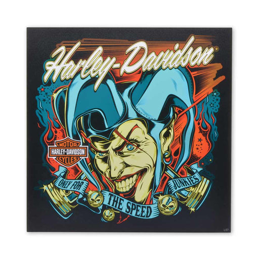 Motorcycle Harley Davidson Joker Only For Speed Junkies Wood Block Print