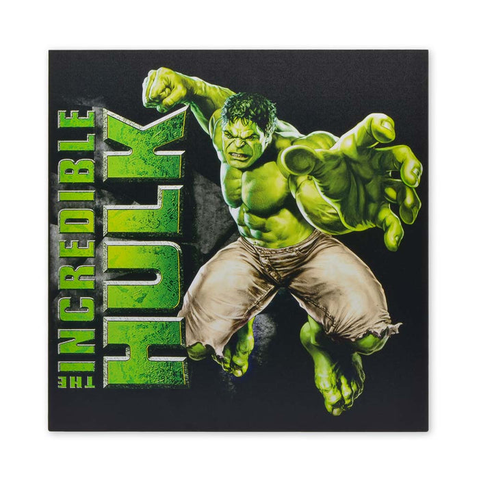 Medium Wood Block Print - Superhero The Hulk