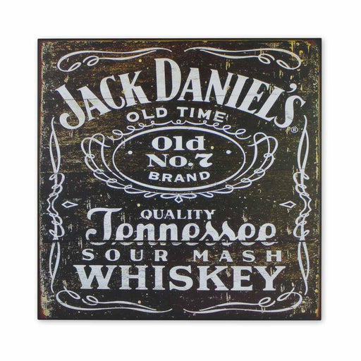 Medium Wood Block Print - Jack Daniels Vintage Logo | That Bloke