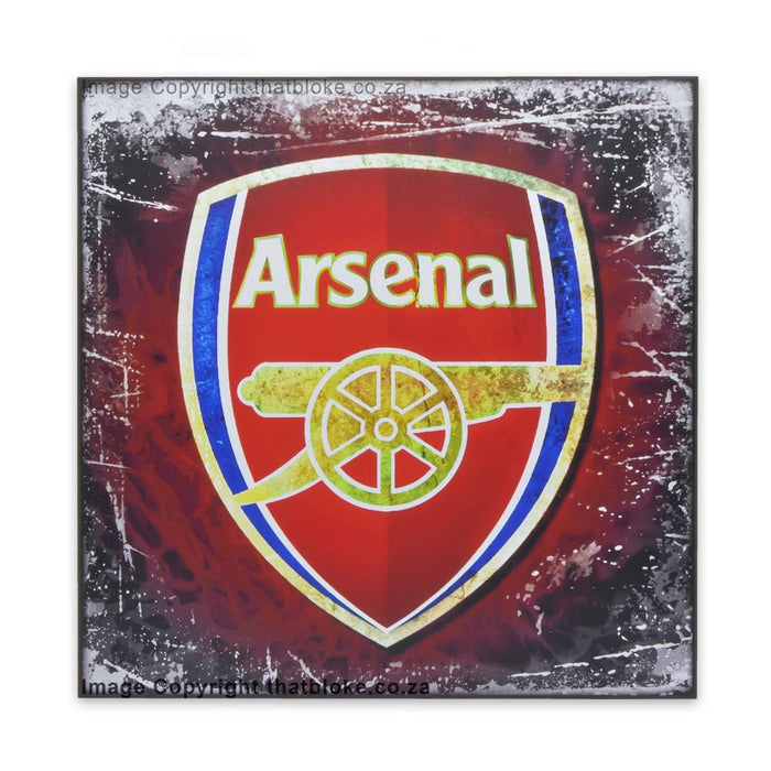 Arsenal Football Club Wood Block Sign Print Medium Sized