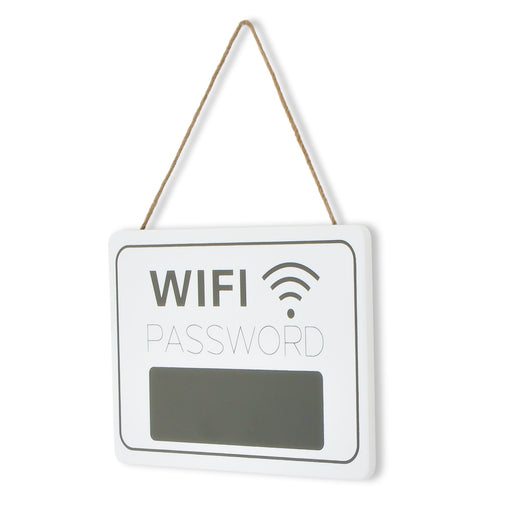 Chalkboard Wifi Password Sign - White