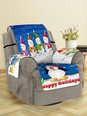 Christmas Snowman Pattern Couch Cover