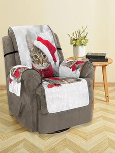 Christmas Cat Pattern Couch Cover