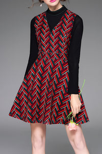 Zig Zag Short A Line Dress