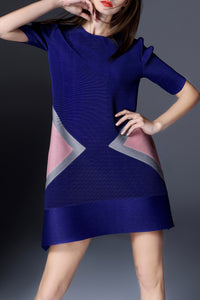 Trapeze Color Block Dress