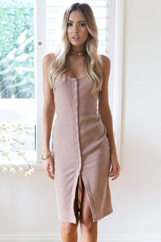 Vogue Invisible Button Backless Sweater Dress