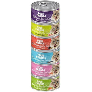 Four Friends Cat Food CAT FOOD BOX OF 24 Mixed (4 of Each) CF Box 24