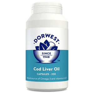 Dorwest Supplements Cod Liver Oil Capsules For Dogs And Cats - Capsules 200 5 060183510241 CD200
