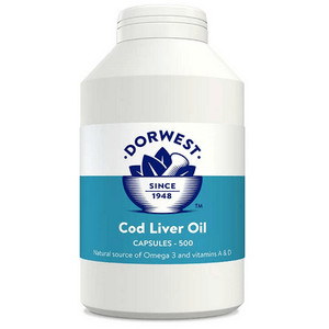 Dorwest Supplements Cod Liver Oil Capsules For Dogs And Cats Capsules 500 5 060183510258 CD500