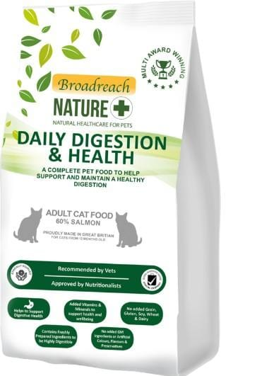 Broadreach Cat Food Daily Digestion and Health Adult Cat Food 60% Salmon 3.0KG Daily Digestion and Health Adult Cat Food 60% Salmon 3.0KG