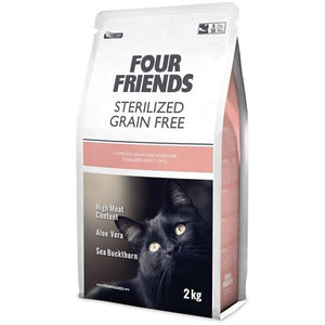 Four Friends Cat Food GRAIN FREE STERILIZED CAT FOOD 2kg GRAIN FREE STERILIZED CF 2KG
