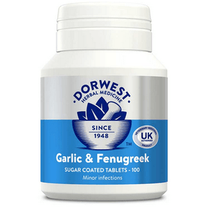 Dorwest Supplements Garlic & Fenugreek Tablets For Dogs And Cats Tablets 100 5 060183510036 GF100