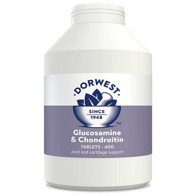Dorwest Supplements Glucosamine & Chondroitin Tablets For Dogs And Cats Tablets 400 5 060183510470 GC400