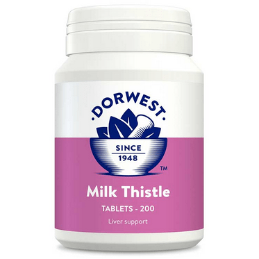 Dorwest Supplements Milk Thistle Tablets For Dogs And Cats 200 Tablets 5 060183511132 TH200